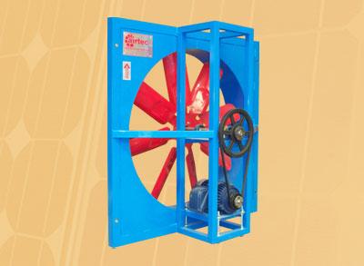 ventilador industrial axial para montaje en muro modelo axm